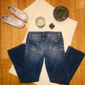 JOE JEANS Blue bootcut whiskered stretchy jeans